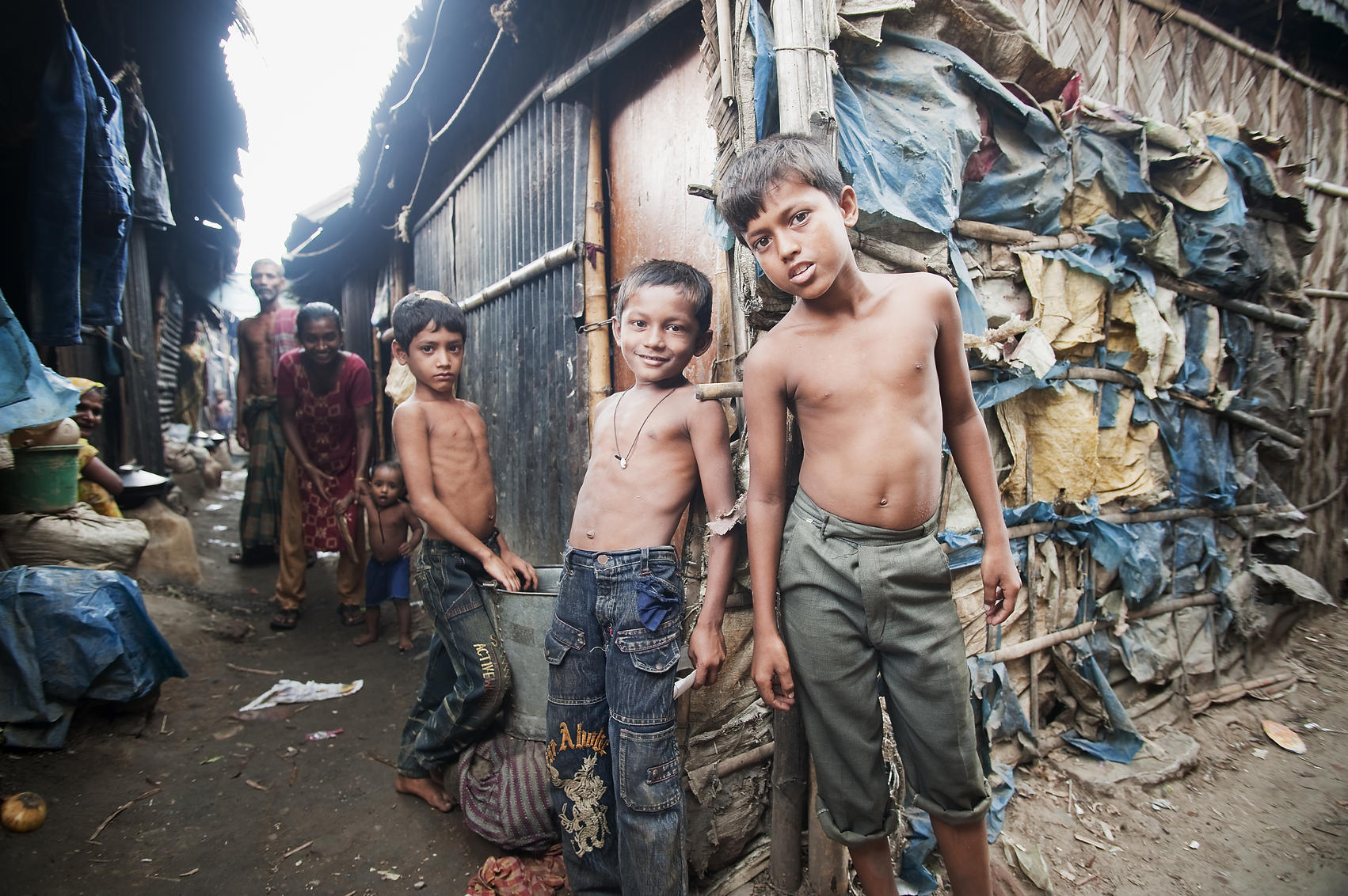 Children in Kallyanpur, one of the urban slums in Dhaka, Bangladesh.jpg
